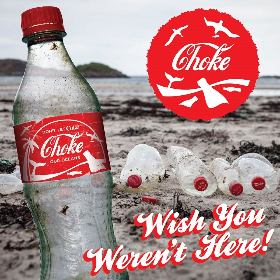 Image result for COKE PLASTIC POLLUTION