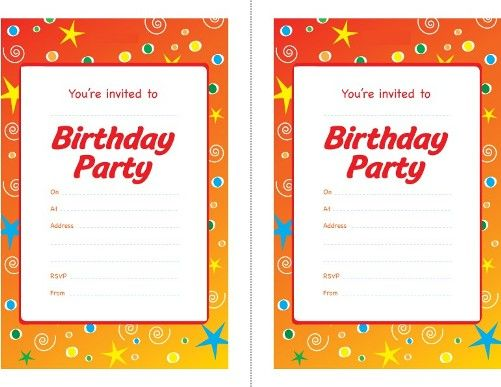 childrens party invitations templates free
