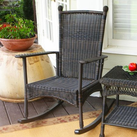 Erica Patio Rocking Chair - All-Weather Wicker on Joss & Main