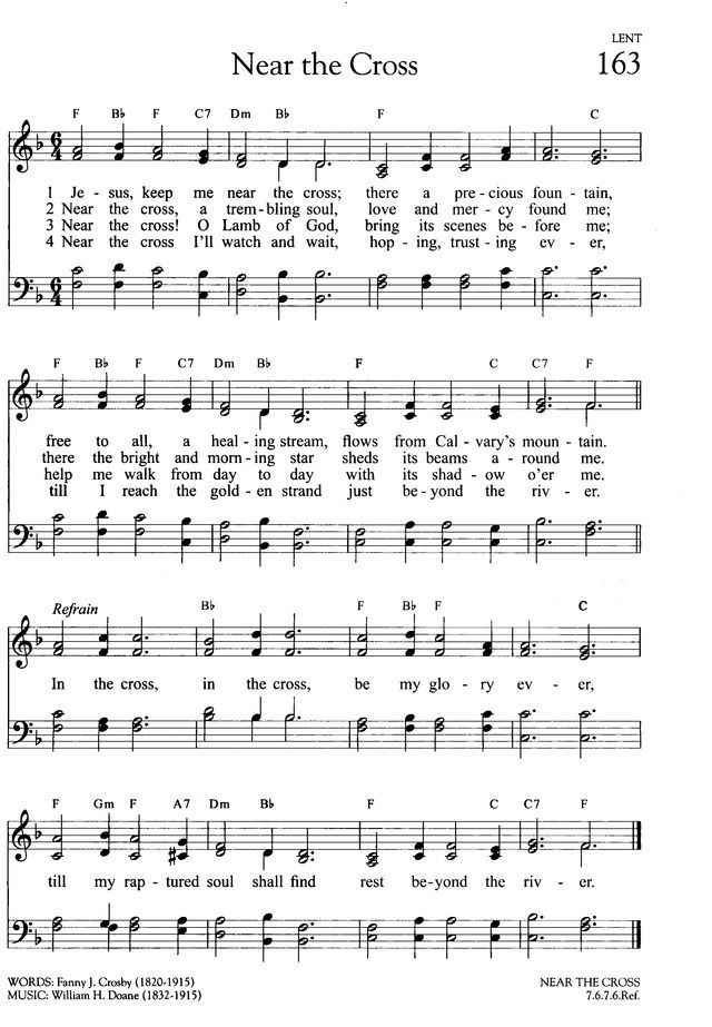 Near The Cross Hymnary Org Christian Song Lyrics Hymn Music