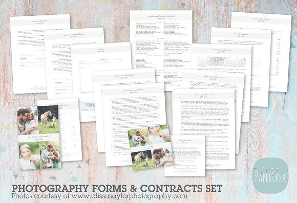 NG018 Photography Contracts  Forms Stationery templates and Template