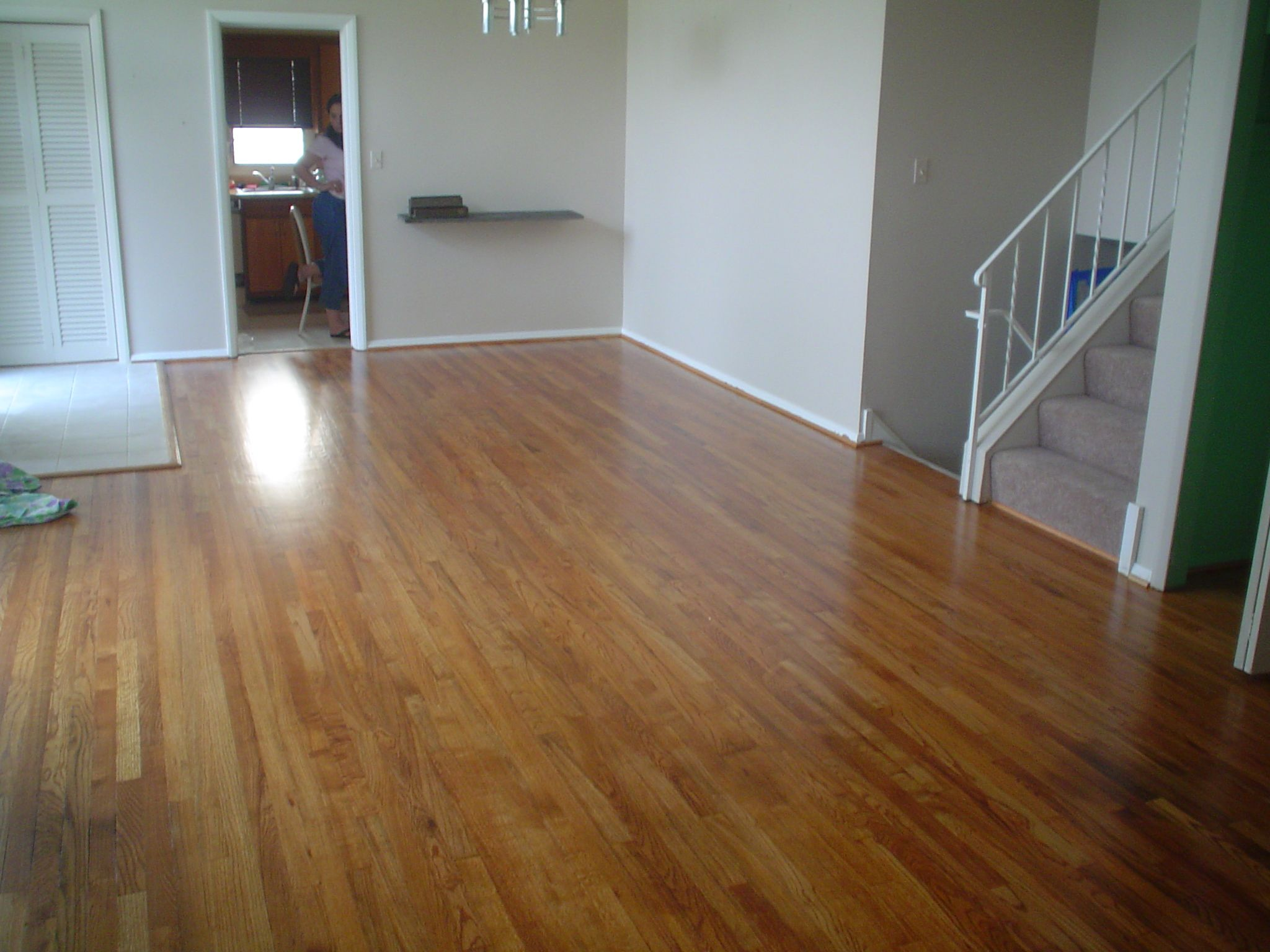 Vinyl To Hardwood After House Plans Refinishing