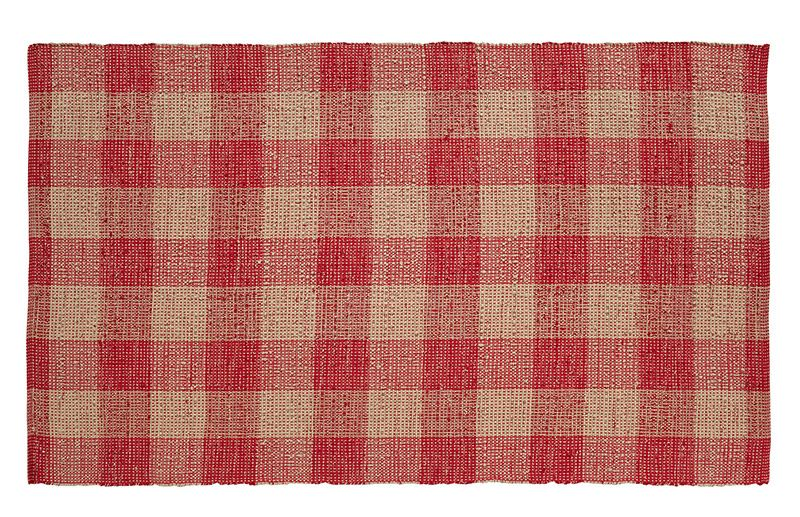 """Available in 7 sizes! Matches all of the Breckenridge tabletop, quilts, and curtains. Shown here: Breckenridge Wool & Cotton Rectangle Rug 96"""" x 132"""""""