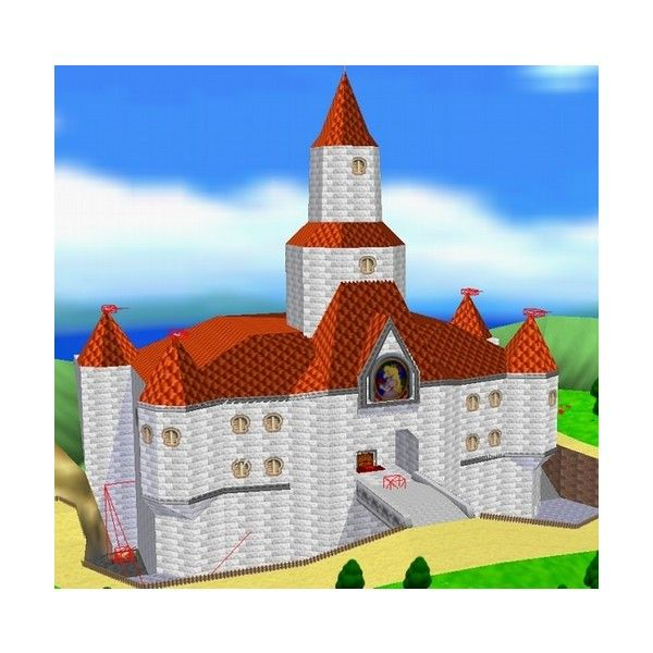 Princess Peach S Castle Super Mario 64 A Lego Creation