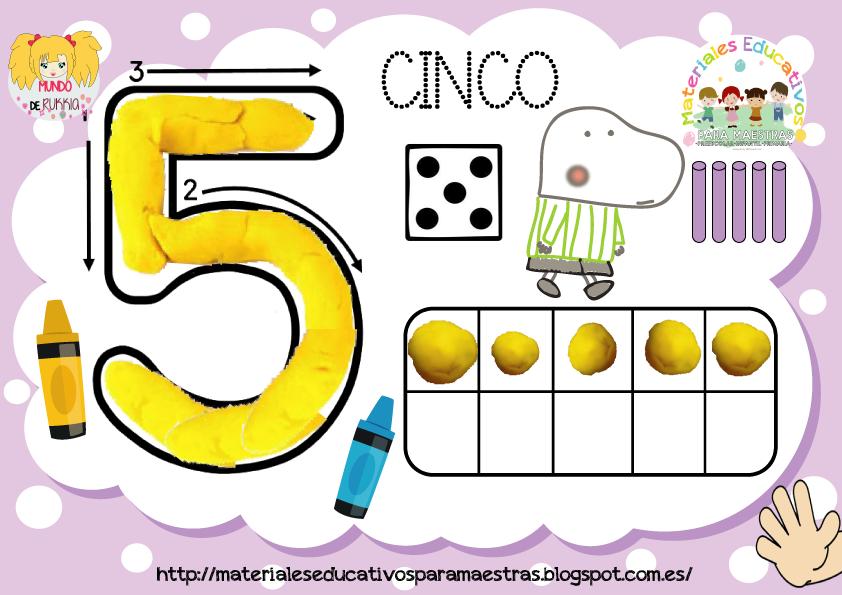 Fichas De Números Plantillas De Conteo Para Plastilina De Cuentos Infantiles Fichas Numeros Para Niños Juegos Matematicos Para Niños
