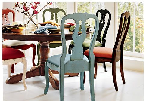 Pottery Barn Style House Decorating With Painted Furniture