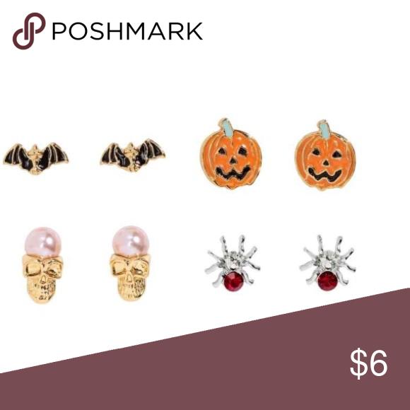 Spooky Time Glow in the Dark Oval Halloween Hoop Earrings.