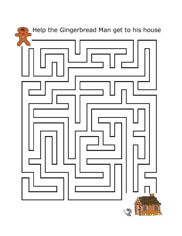 Gingerbread Maze | Gingerbread man | Pinterest | Gingerbread, Maze ...