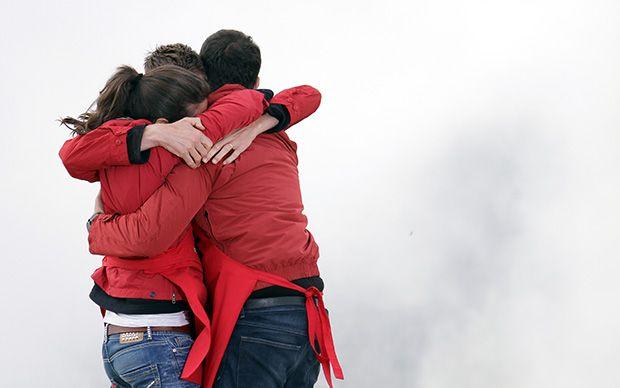 La gioia della squadra rossa!