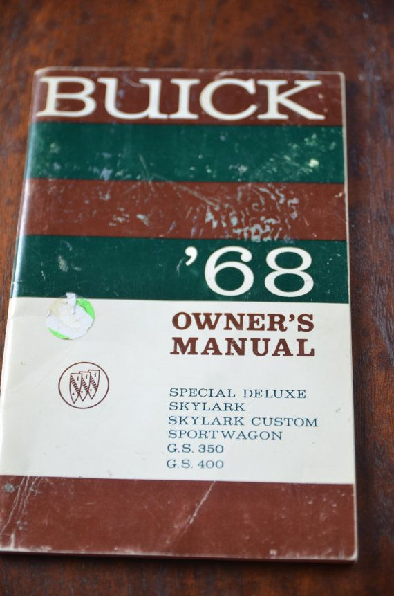 1968  Buick Owners Manual Special Deluxe by RosaliesTreasures