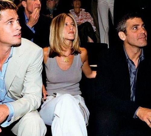 Pin By Jennifer George On Boys Rooms: George Clooney - Brad Pitt - Jennifer Aniston