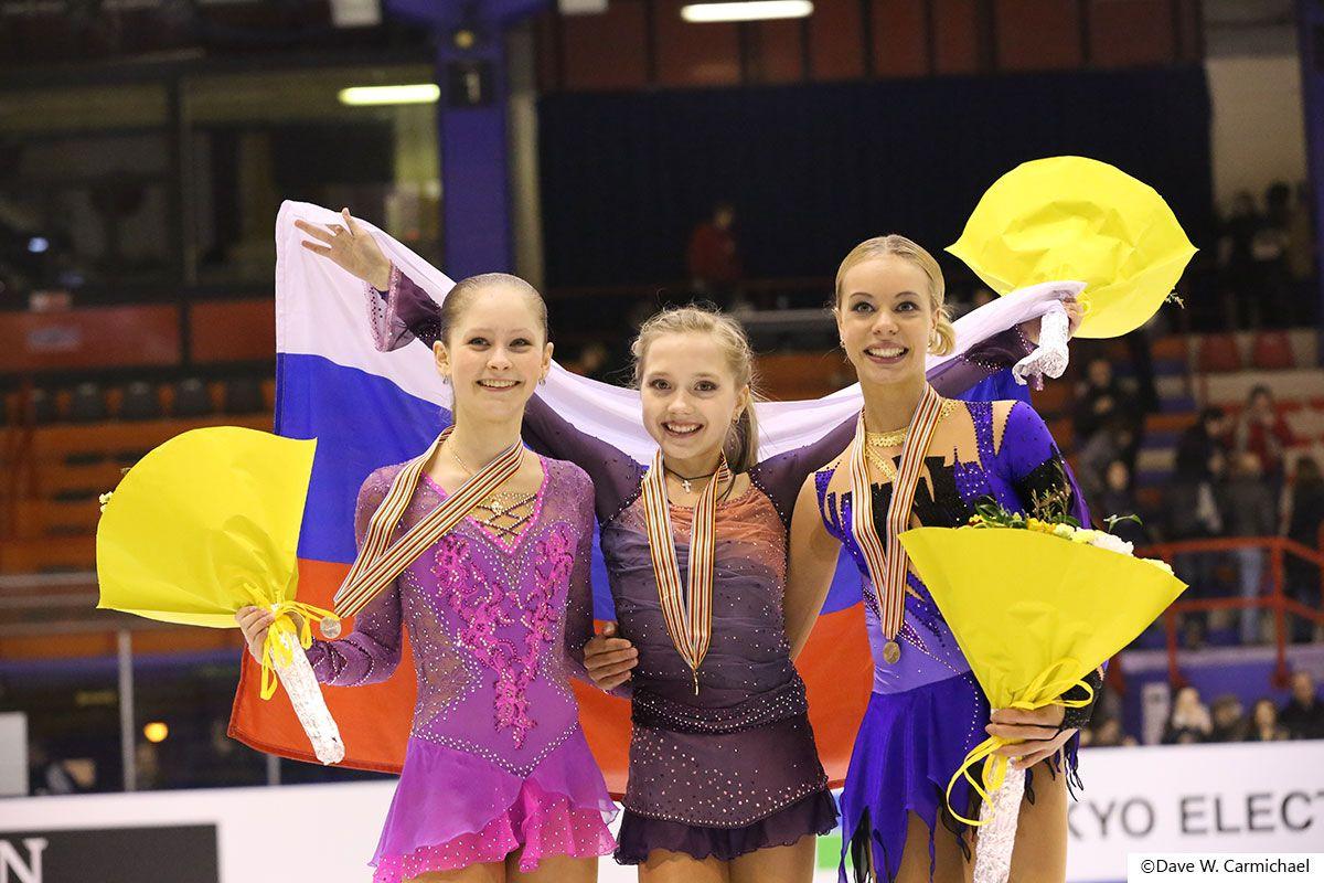 JUlia Lipnitzkaia,Elena Radionva and Anna Pogorilaya(Ruusia)