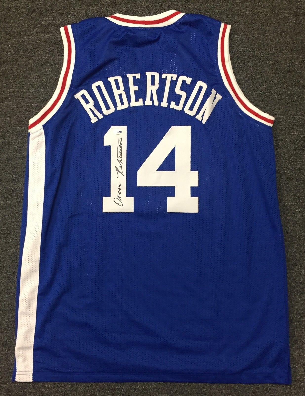 Oscar Robertson  14 Signed Royals Jersey Sz XL AUTO Autograph PSA DNA COA   84064a17e