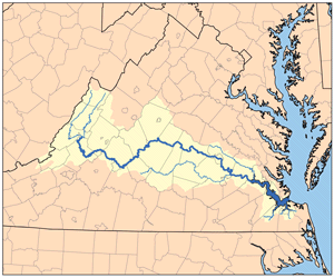 The Pagan River Feeds Into The James River And Was Once Known As - Longest river in the us map