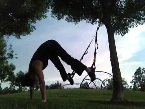 trx handstand  at home trx mom in training  attempts the