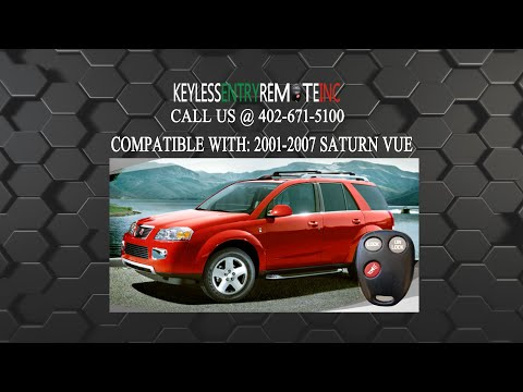 How To Change A 2001 2007 Saturn Vue Key Fob Remote Part