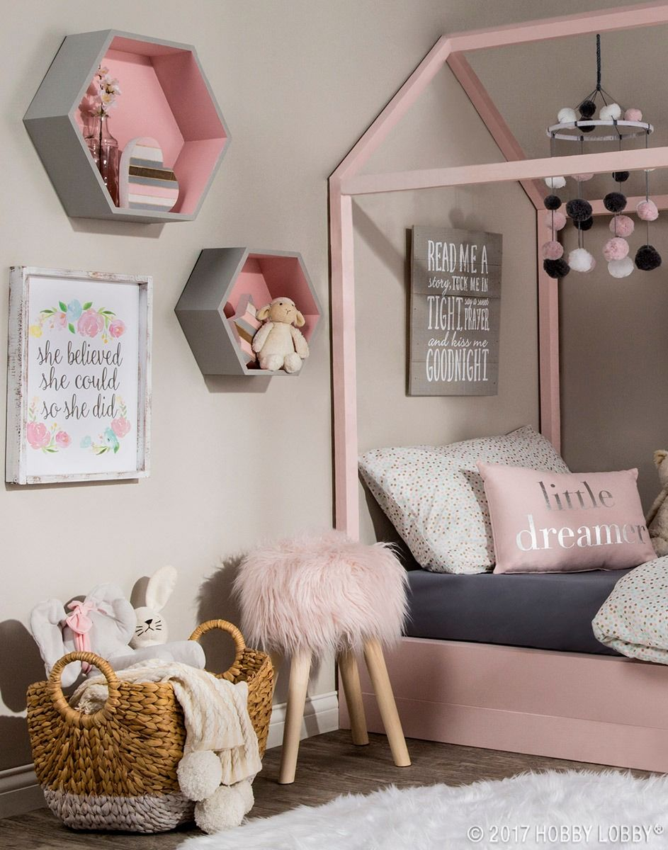 Pretty Pink Pastels Are Key To Creating This Dreamy Space Pink Girls Bedroom Decor Kids Bedroom Decor Pink Bedroom Decor
