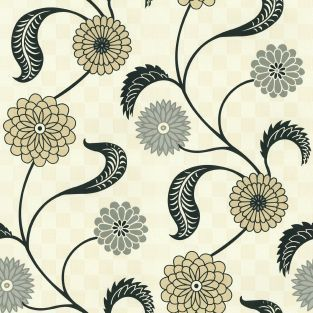 Flower District Vine-Pewter - Waverly - Waverly Fabrics, Waverly Wallpaper, Waverly Bedding, Waverly Paint and more
