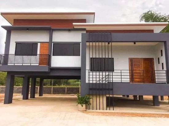 Desain Rumah Panggung Beton Minimalis Di 2021 Rumah Rumah Minimalis Minimalis