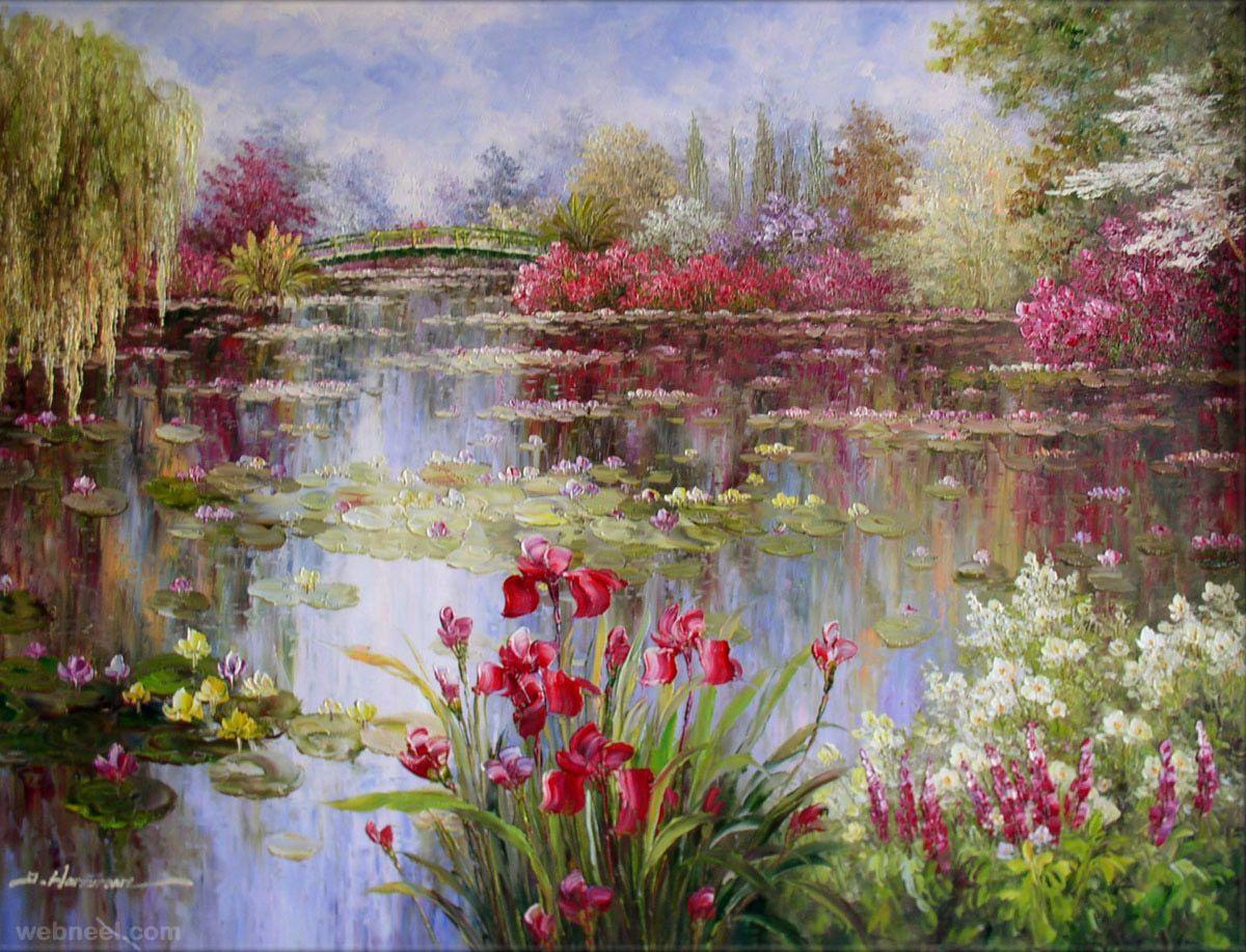 20 famous paintings and landscape artworks artist