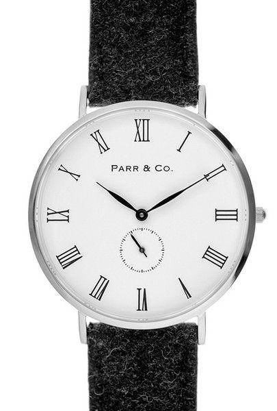 Parr & Co. SILVER & DARK GRAY TWEED
