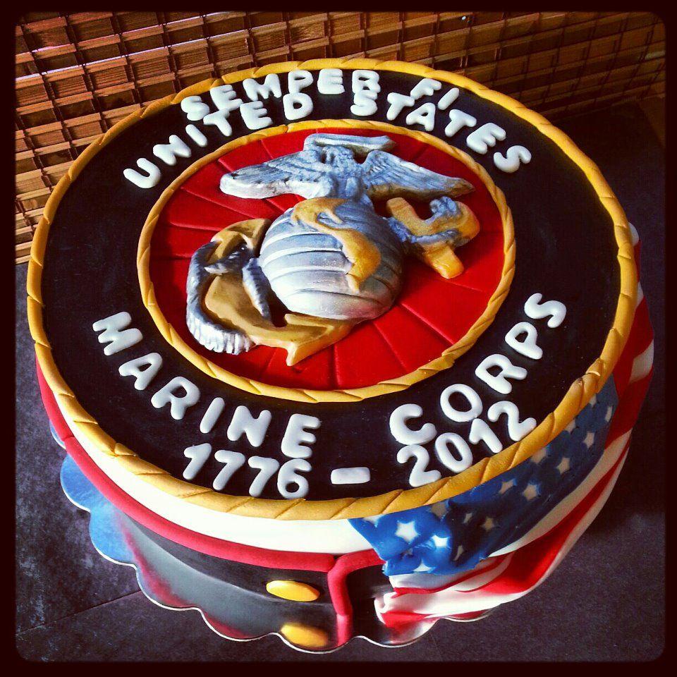 Happy Birthday Marine Corps Cake Retirement Living