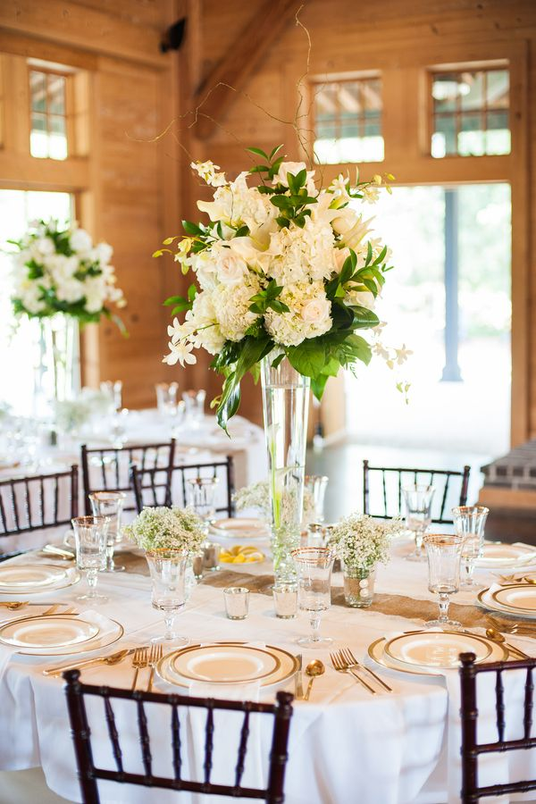 Rustic glam pepper plantation wedding by alyona photography white wedding centerpieces pepper plantation wedding with burlap and lace details by alyona photography charleston weddings junglespirit Choice Image