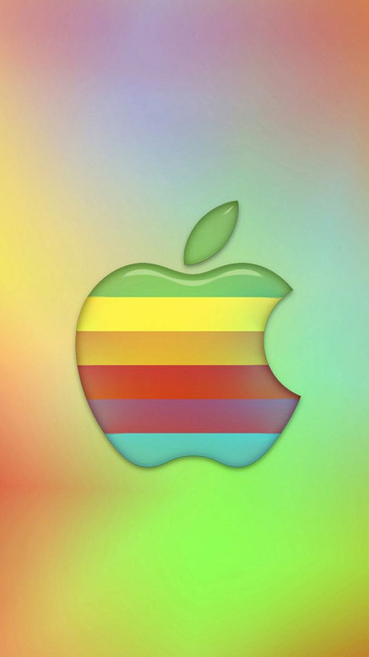 Colorful Apple Logo 02 Iphone 6 Wallpapers Apple Logo Design