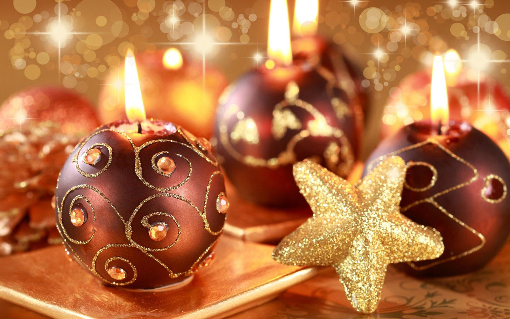 christmas candles | Free Wonderful Christmas Candle Lights, computer desktop wallpapers ...