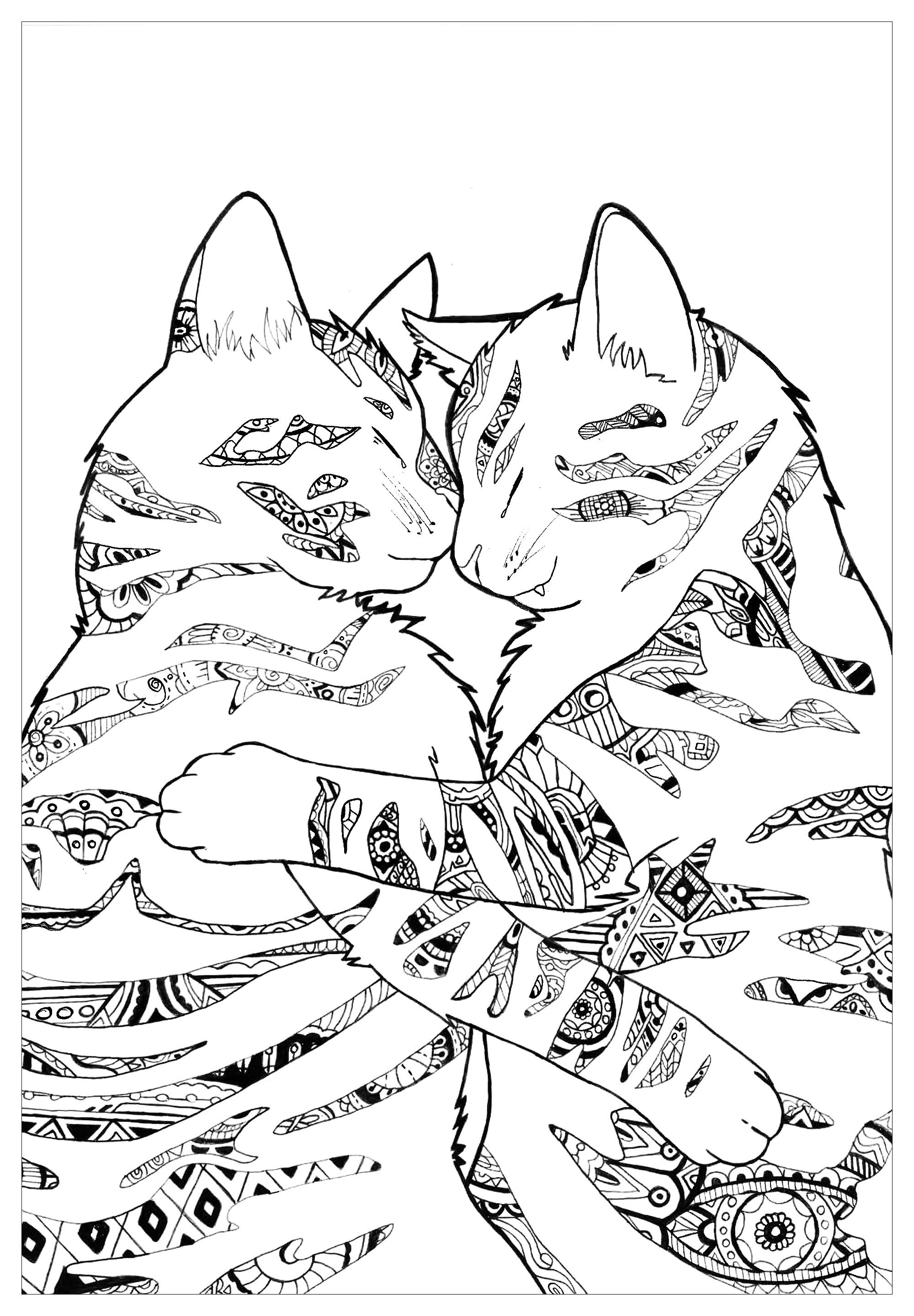 Here Are Complex Coloring Pages For Adults Of Animals Different Levels Of Details And Styles Are Ava Animal Coloring Pages Dog Coloring Page Cat Coloring Page [ jpg ]
