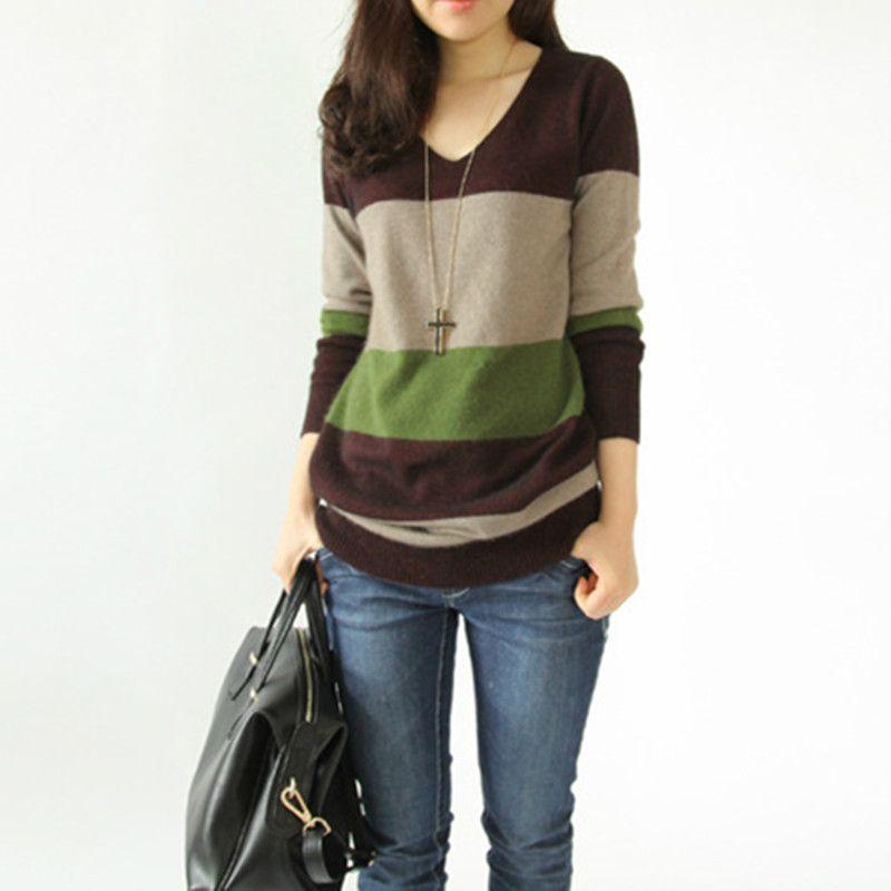 Aliexpress.com  Comprar Otoño invierno moda de lana de cachemira largo  vestido de mujer delgado suéteres de punto jerseys Tops para mujer suéteres  de ... 1a4e39ed3297