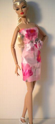 "Pink Organza Sheath w Skirt for 16"" Poppy Parker Samihart | eBay"