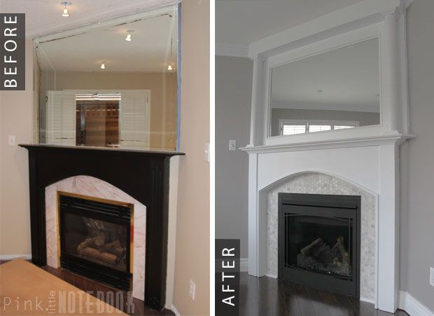 Pt 3 fireplace makeover before after corner Corner fireplace makeover ideas