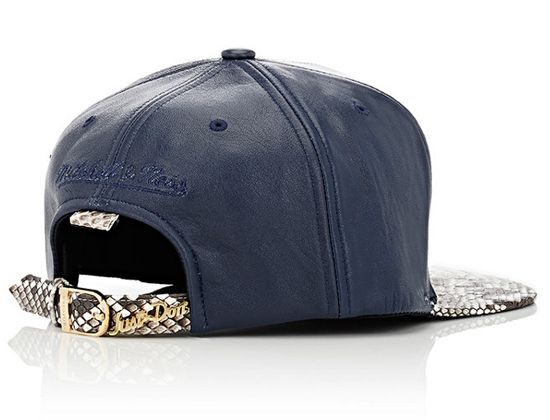 New York Python Strapback Cap By Just Don X Mitchell Ness Hats For Men Strapback Cap Mens Leather Accessories
