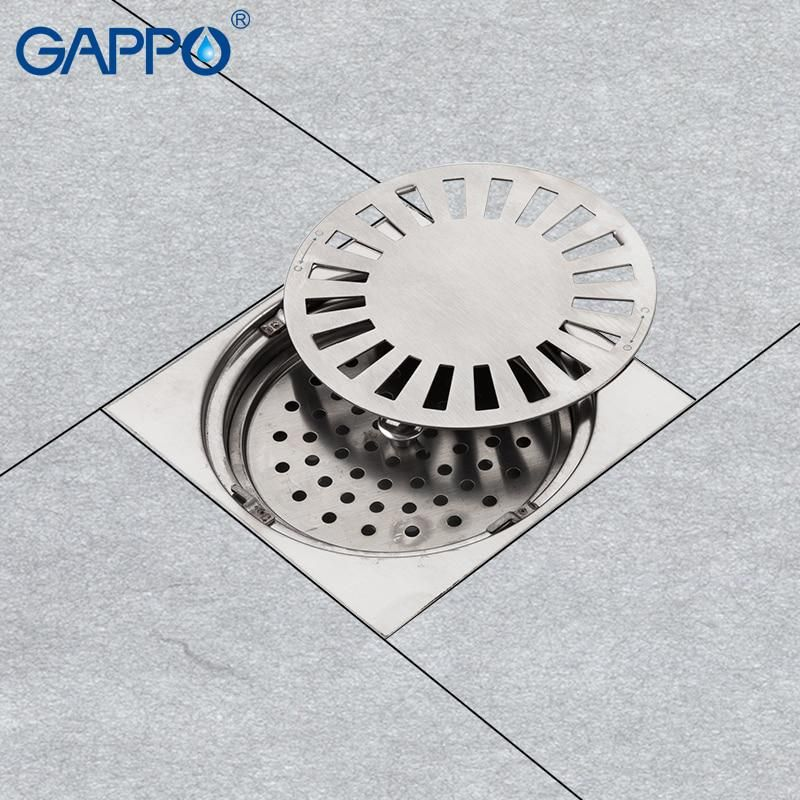 Gappo Drains Stainless Steel Square Floor Cover Anti Odor Shower