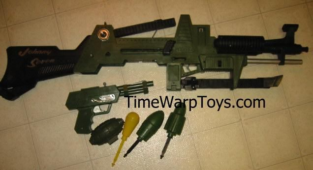 Johnny Seven 7 O. - One Man Army Gun - Topper Toys 1964 The best selling  boys toy of Seven guns in one