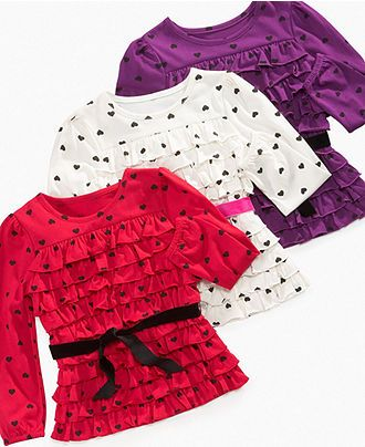 So Jenni Kids Top, Little Girls Sash Flounced Tops - Kids Tops & Sweaters - Macy's.$12