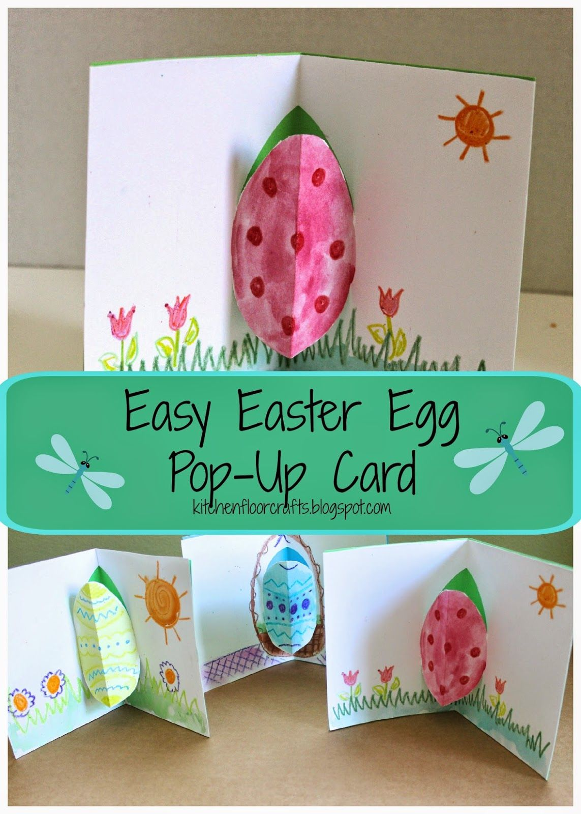 Easy Easter Egg Pop Up Card Easter Cards Handmade Diy Easter Cards Holiday Crafts For Kids