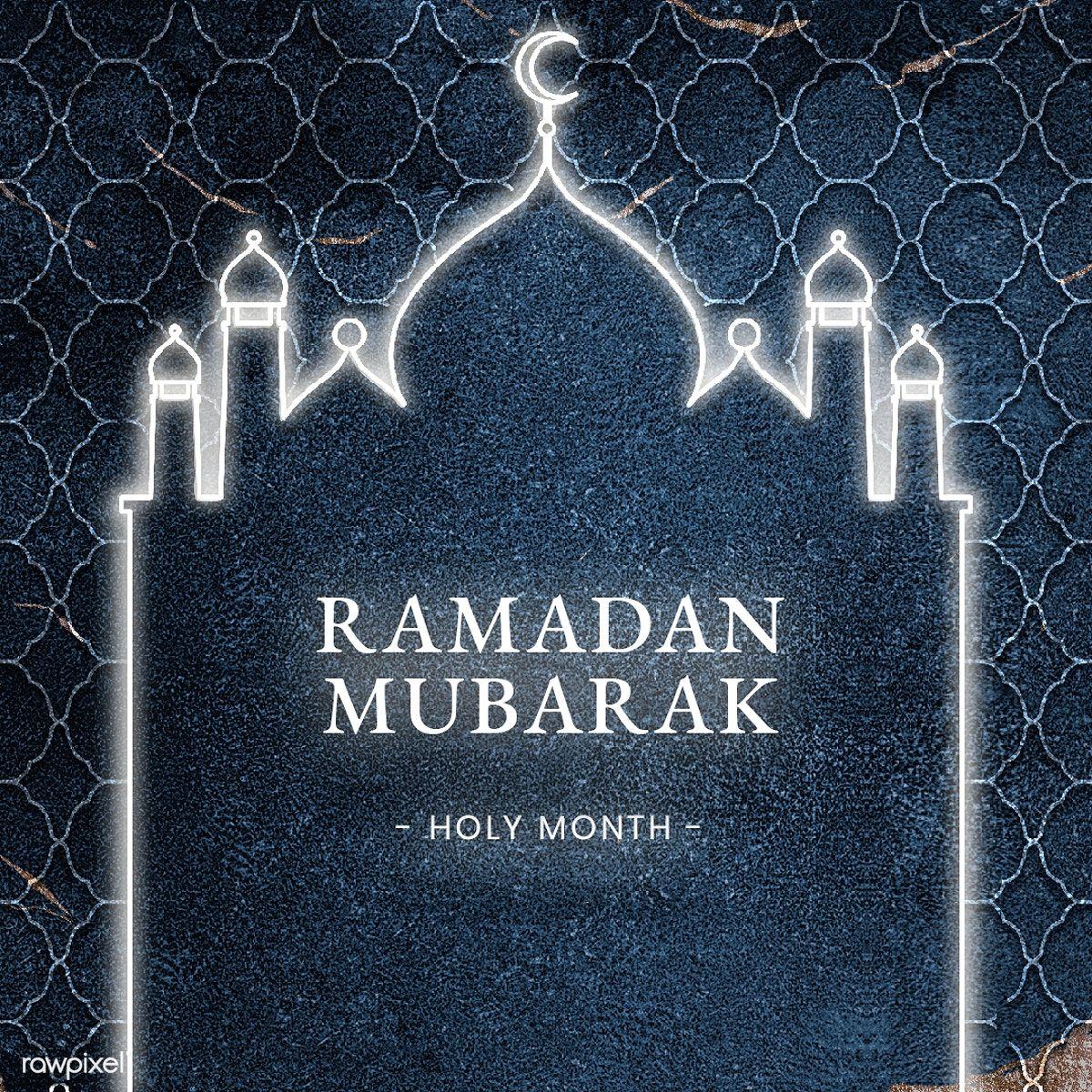 Festive Ramadan Mubarak Blessing Card Template Free Image By Rawpixel Com Katie In 2020 Ramadan Mubarak Ramadan Eid Mubarak Greeting Cards