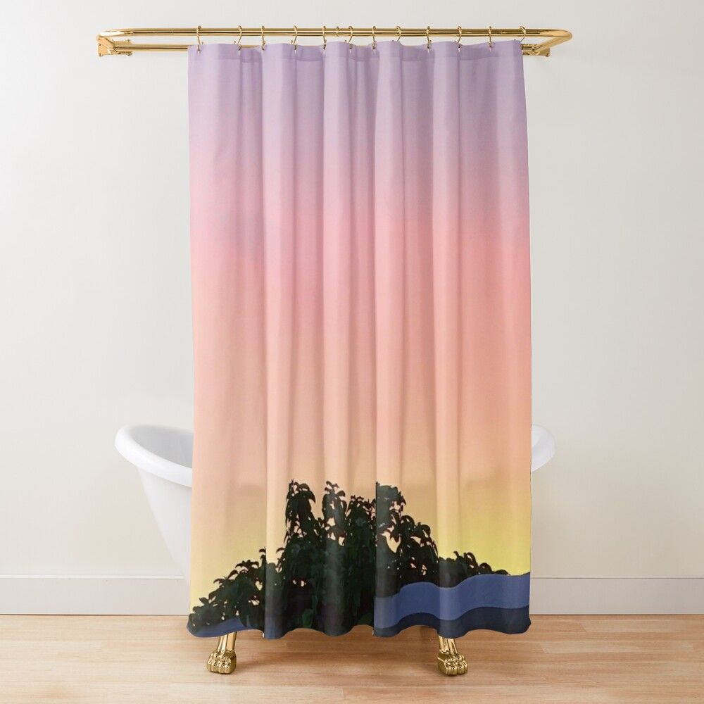 Get My Art Printed On Awesome Products Support Me At Redbubble Rbandme Https Www Redbubble Com I Shower Curtain Suns In 2020 Sunset Colors Curtains Shower Curtain