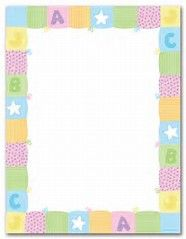 image about Free Printable Baby Borders for Paper called totally free printable little one borders -