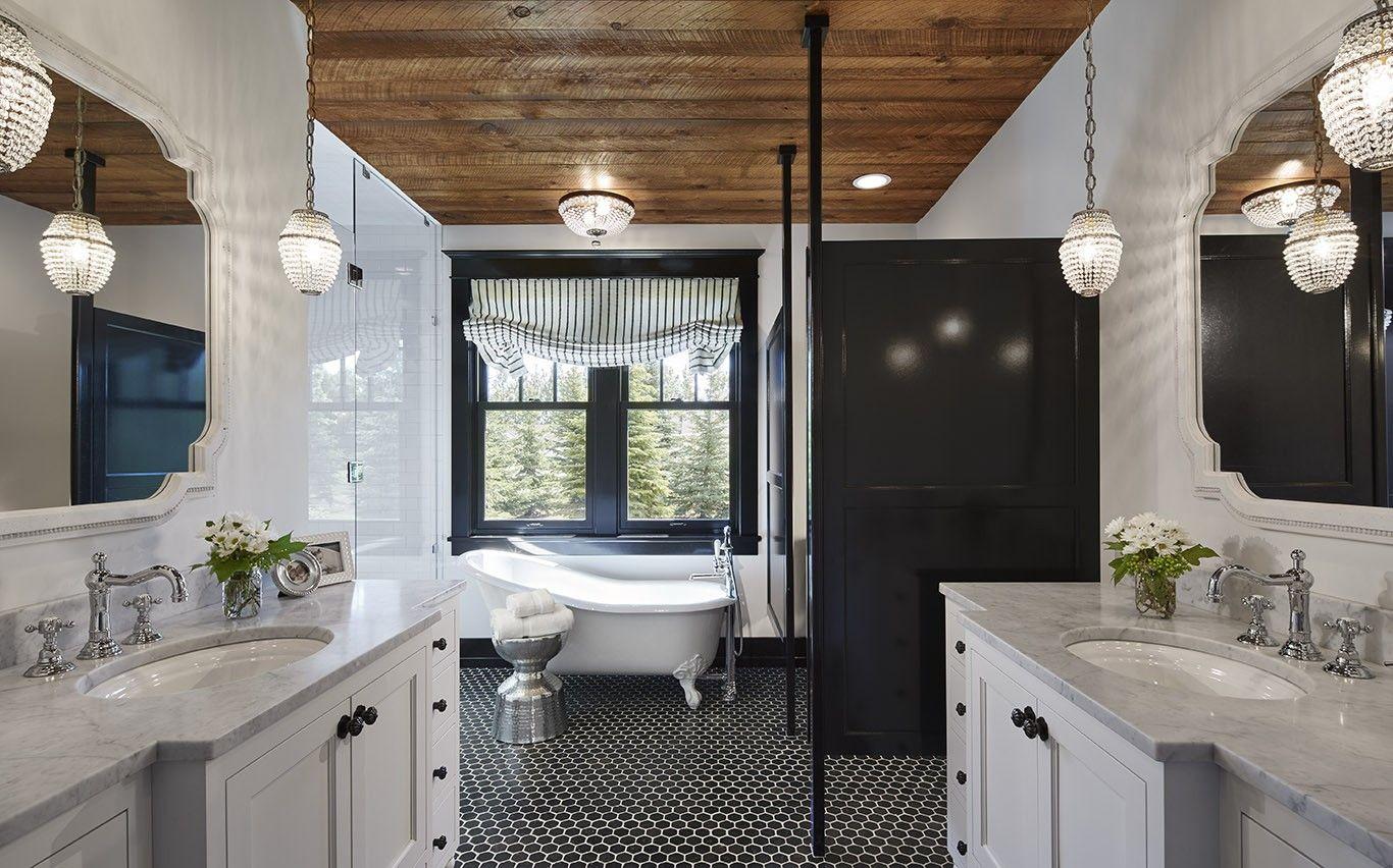 interior design north dakota  white master bathroom