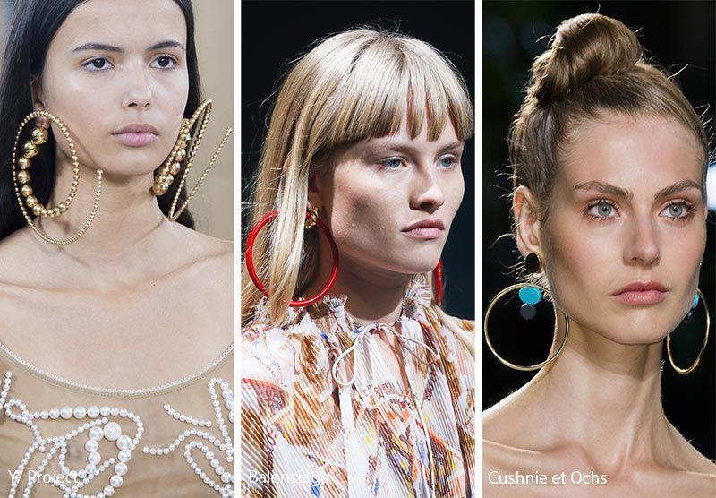 Spring Summer 2018 Jewelry Trends Large Hoop Earrings
