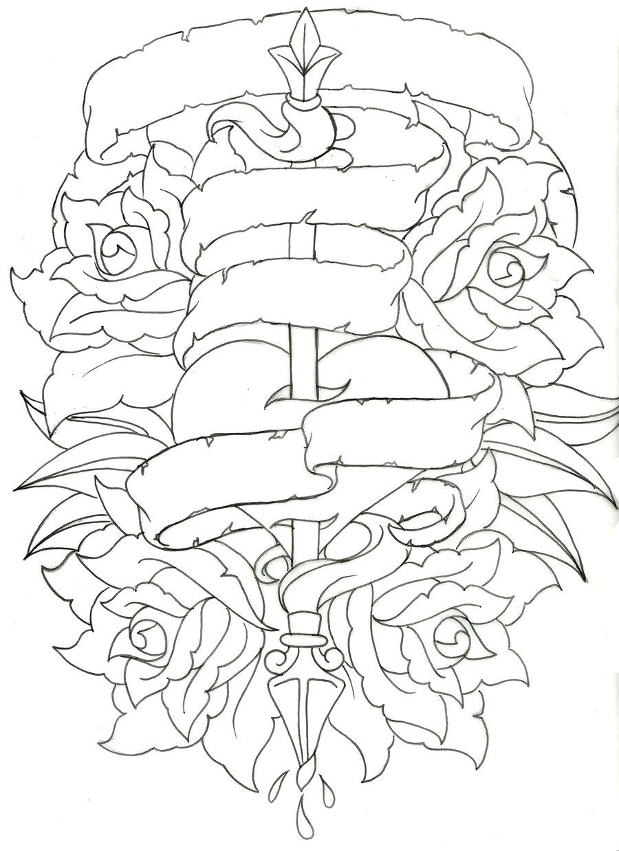 Roseheart Outline 1 Coloring Books Coloring Book Pages Heart Coloring Pages