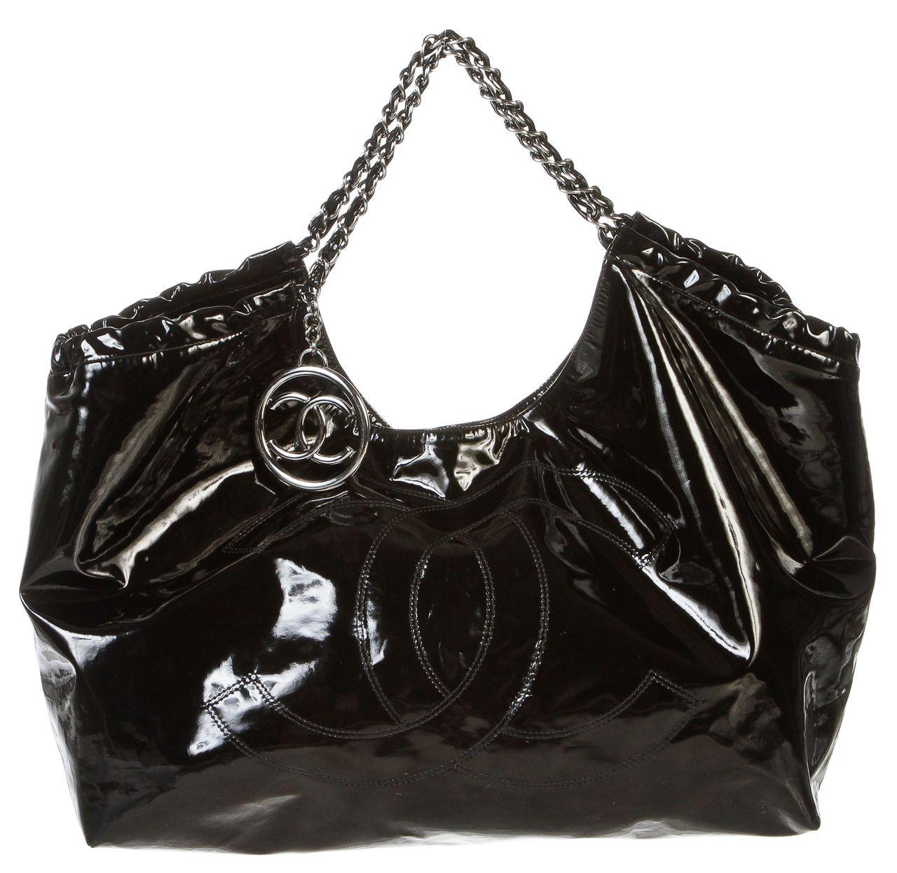Onquestyle - Chanel Black Vinyl Coco Cabas Hobo XL Handbag, $1,295.00 (http://www.onquestyle.com/chanel-black-vinyl-coco-cabas-hobo-xl-handbag/)