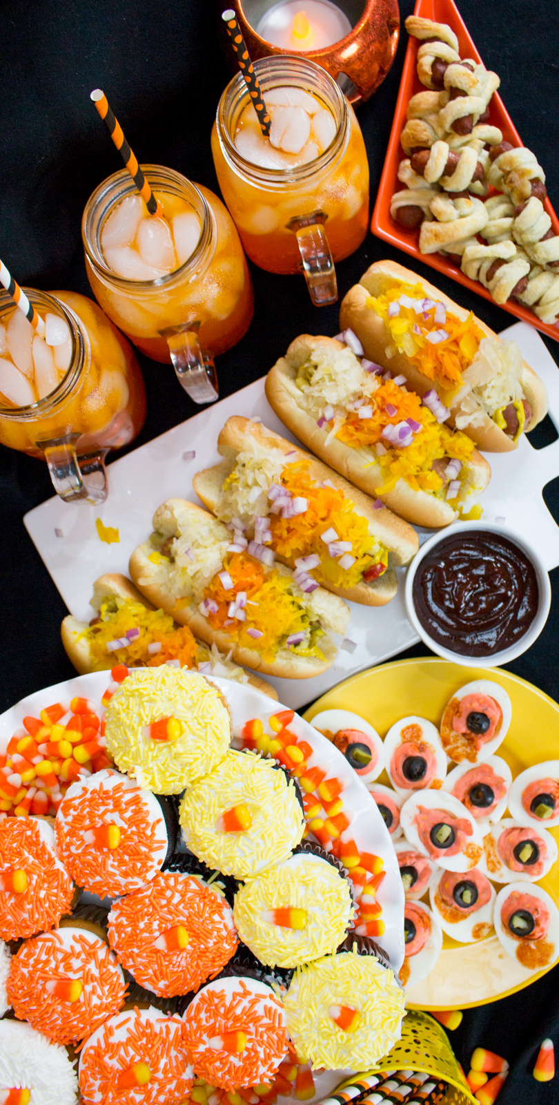 cutest halloween candy corn party ideas - halloween party food ideas