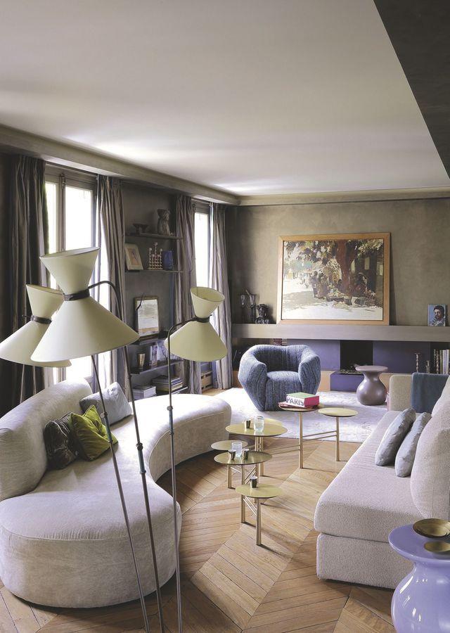 Appartement Paris 6ème  150m2 d\u0027une douce modernité Interiors