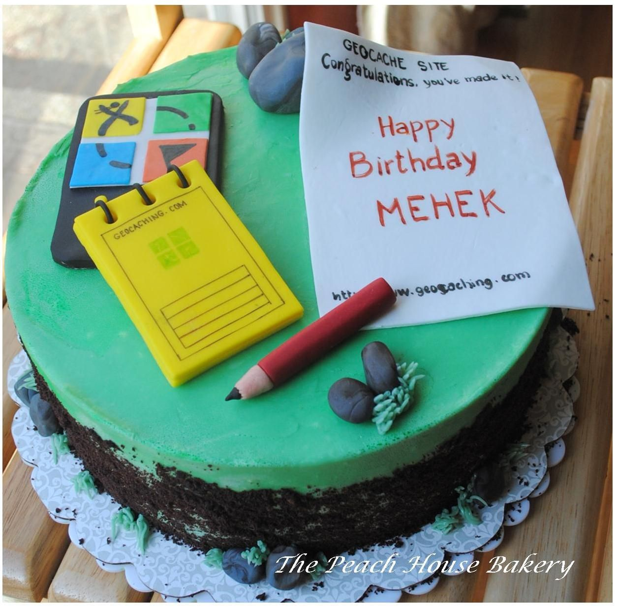 Geocaching Theme Cake