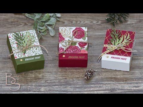 """Box """"Wunderbare Weihnachtszeit"""" selbst basteln Farbkarton・Neue exklusive Produktreihe・Stampin' Up! - YouTube #prettypackaging"""