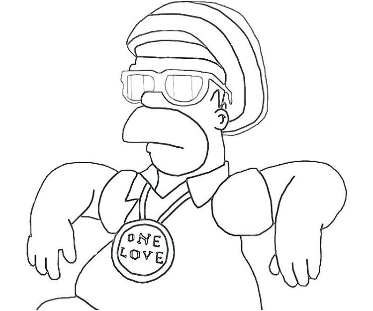 - Simpson Coloring Pages Gangsta Cool Coloring Pages, Coloring Pages,  Family Coloring Pages